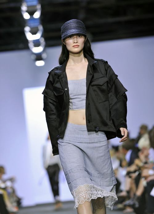 The Rag & Bone Spring 2013 collection is modeled during Fashion Week in New York, Friday Sept 7, 2012. (AP Photo/Stephen Chernin)