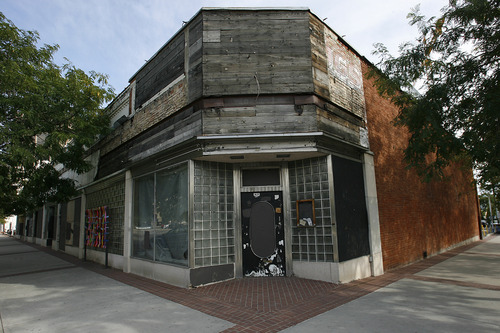 Scott Sommerdorf  |  The Salt Lake Tribune              The Zephyr Club building on the southeast corner of 300 South and West Temple, Thursday, Sept. 6, 2012. The Salt Lake City Council is discussing a proposed ordinance geared toward fighting urban blight.