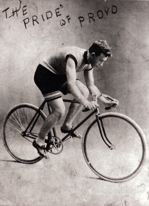 Saltair bicycle racer known as the