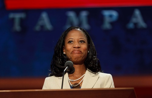 Trent Nelson  |  The Salt Lake Tribune Utah congressional candidate Mia Love was one of the few minority speakers in the lineup of speakers at the Republican National Convention in Tampa, Fla.