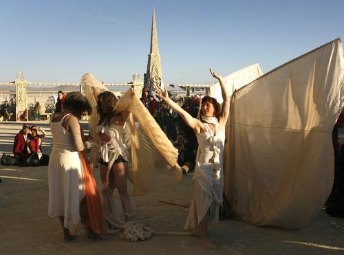 Rick Egan  | The Salt Lake Tribune   Dancers perform in front of the