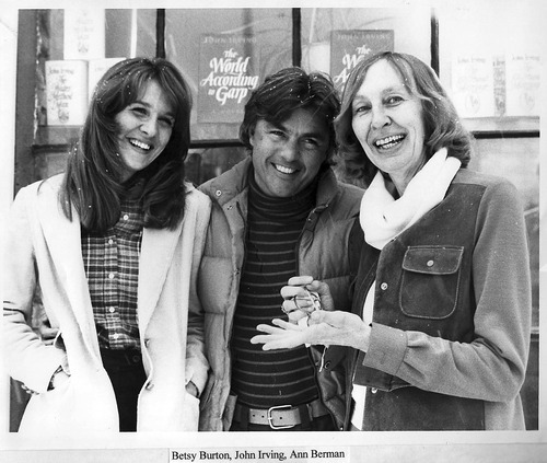 The King's English owners Betsy Burton and Ann Berman with novelist John Irving in 1977, soon after the two opened the store in the 1500 East and 1500 South neighborhood of Salt Lake City. The independent book store celebrates its 35th year in business Sept. 10. (Courtesy The King's English Bookshop)