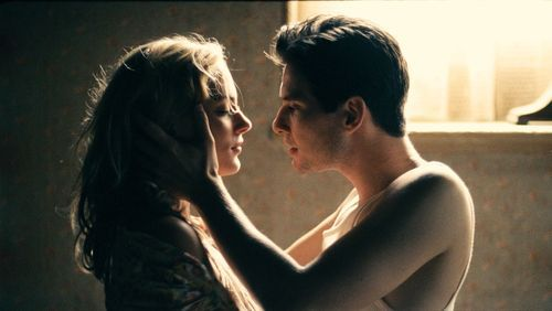 This film image released by CBS Films shows Nora Arnezeder, left, and Ben Barnes in a scene from