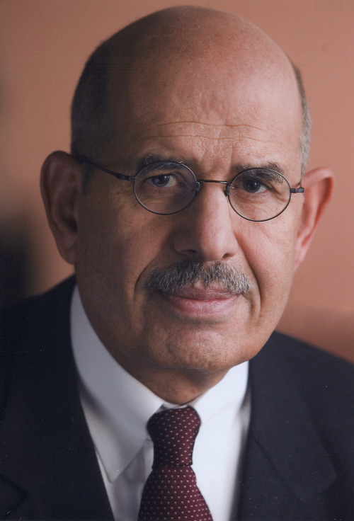 Courtesy image Mohamed ElBaradei, the former director of the International Atomic Energy Agency and a Nobel Peace Prize winner, speaks at the U. on Thursday.