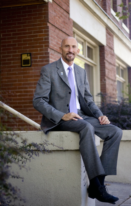 Kim Raff | The Salt Lake Tribune Stewart Ralphs Executive Director of Legal Aid Society of Salt Lake is photographed outside the non-profits office in Salt Lake City, Utah on September 12, 2012.
