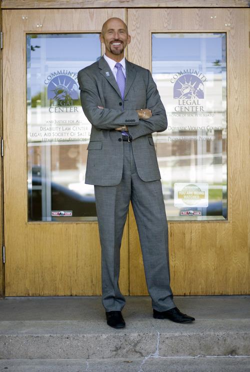 Kim Raff | The Salt Lake Tribune Stewart Ralphs Executive Director of Legal Aid Society of Salt Lake is photographed outside the non-profits office in Salt Lake City, Utah on September 12, 2012.