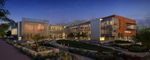 An architectural rendering of the University of Utah's proposed Student Life Center, which has secured a $3 million gift from the Eccles family. Construction is to begin next spring northeast of the Huntsman Center after a decade of student lobbying for the project. Courtesy University of Utah