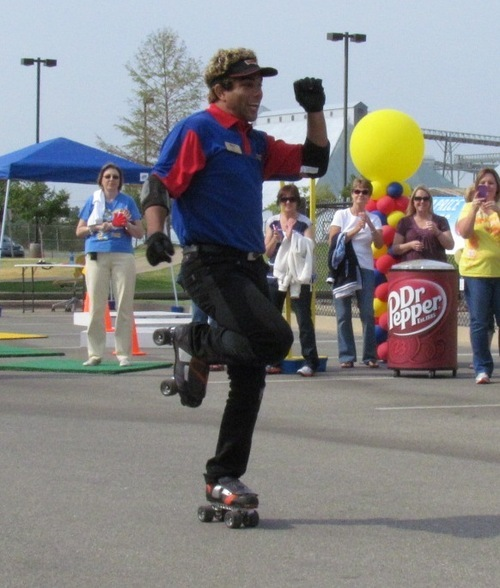 Nate Snow, of Taylorsville, who works as a skating carhop at SONIC in Sandy and American Fork, won SONIC's national carhop competition. Courtesy of SONIC.