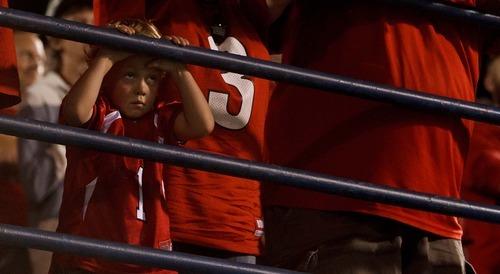 Trent Nelson  |  The Salt Lake Tribune Utah fans watch the Utes' prepare for their last possession in overtime as Utah State hosts the University of Utah, college football in Logan, Utah, Friday, September 7, 2012.