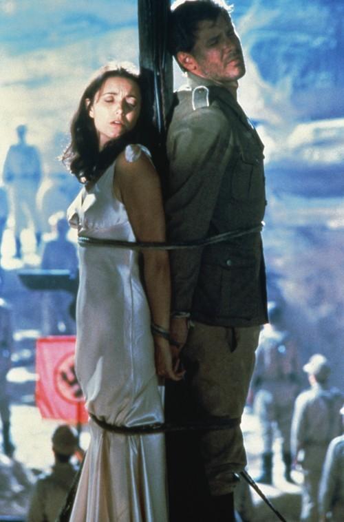 Karen Allen, left, and Harrison Ford, star as Marion Ravenwood and Indiana Jones in