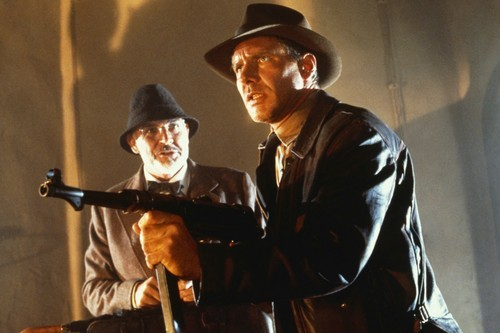 Sean Connery, left and Harrison Ford in