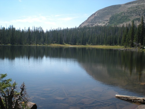 Fehr Lake sits on a trail of the same name in the Uinta Mountains. It's .48 miles to the lake from the trail head. Courtesy Brook Osterland