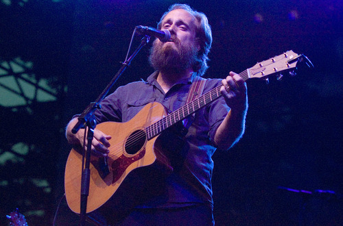 Paul Fraughton  | Salt Lake Tribune  Sam Beam of Iron and Wine  performs at the seventh Twilight Concert of the season at Pioneer Park, Thursday, August 16, 2012.
