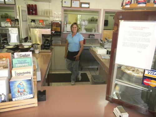 Tom Wharton | The Salt Lake Tribune Waitress Linda Downs at Arshel's diner in Beaver.