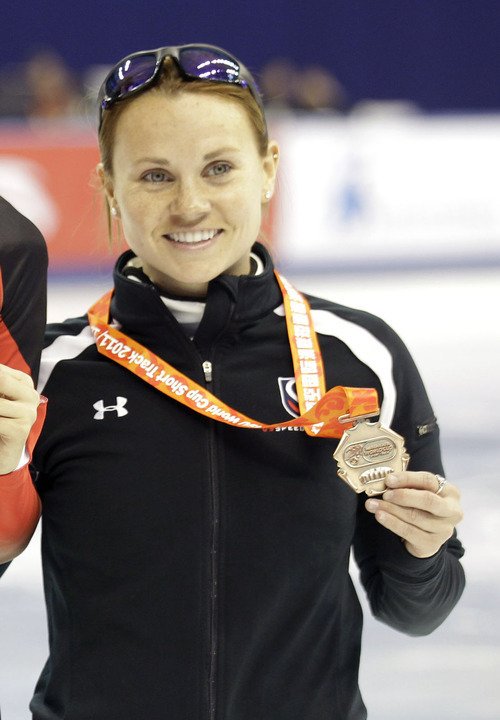File photo | The Associated Press Jessica Smith, right, is the silver medalist from the World Championships.
