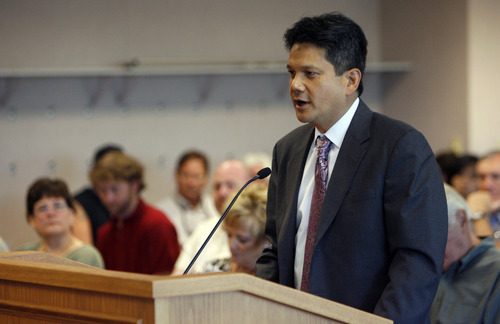 Francisco Kjolseth  |  The Salt Lake Tribune Salvador Petilos appears during a liquor-control commission meeting on the Tuesday, June 26, 2012.
