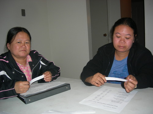 ESLC emergent reader students attending a class at a South Salt Lake partnership location. Courtesy | English Skills Learning Center