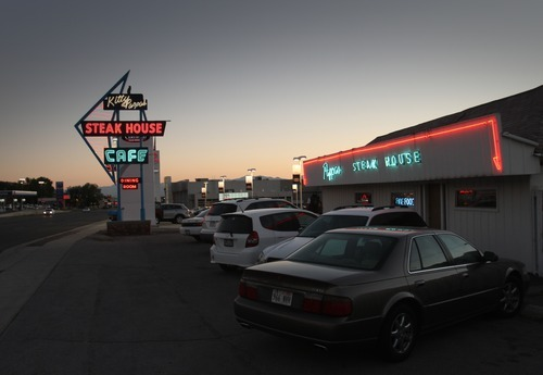 Rick Egan  | The Salt Lake Tribune   The Kitty Pappas Steak House on Highway 89 in Woods Cross is marking 65 years in business by not changing a thing, including the original cash register.