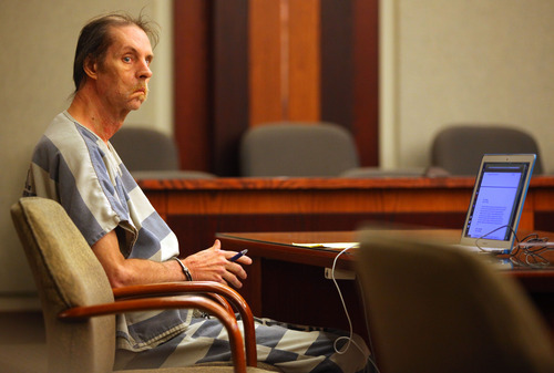 Michael Selleneit appears for a competency hearing at 2nd District Court in Bountiful on Wednesday, Sept. 19, 2012. (NICK SHORT/Standard-Examiner/POOL)