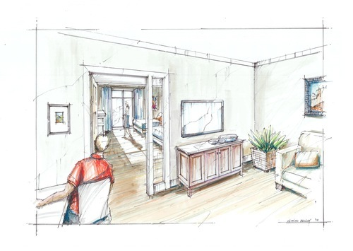 A rendering of a suite at Hope Lodge in Salt Lake City. The American Cancer Society announced Thursday it has raised $10.2 million toward its $18 million capital campaign to build the 42-suite lodge for cancer patients who need to leave their homes for therapy in Salt Lake City.