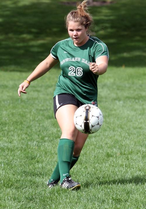 Rick Egan  | The Salt Lake Tribune   Rowland Hall soccer player Grace Veghte,  Monday, September 10, 2012.