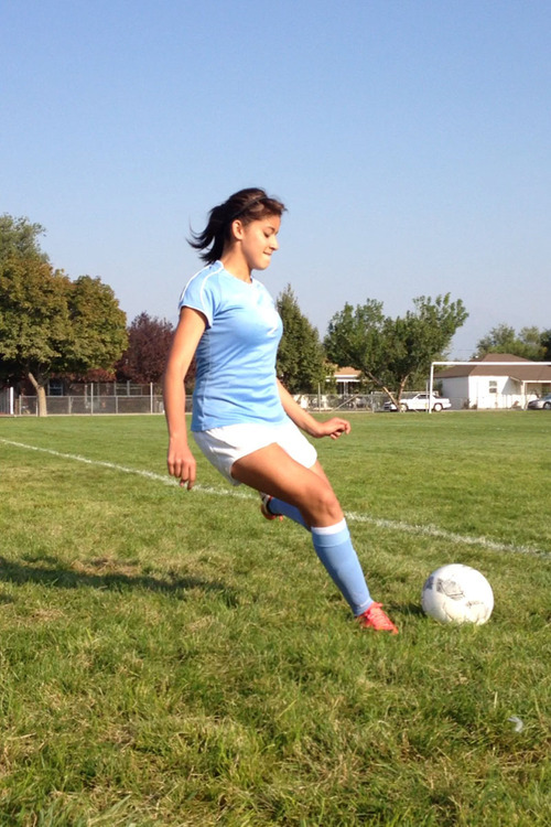 Courtesy Megan Berrett Granger sophomore Stephanie Camaren entered the week with four goals for the Lancers this season.