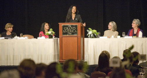 Paul Fraughton | Salt Lake Tribune Victoria Rowell, an accomplished actress and author, was the keynote speaker at the YWCA's Leader Luncheon held at Salt Lake City's Grand America Hotel.   Friday, September 21, 2012