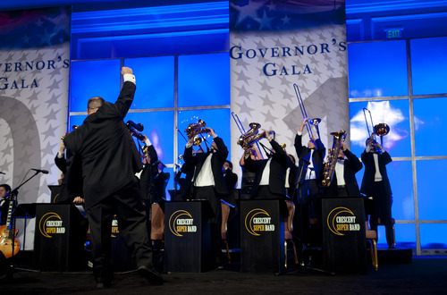 Michael Mangum  |  Special to the Tribune  Caleb Chapman's Crescent Super Band performs at the 2012 Governor's Gala at the Grand America hotel in Salt Lake on Saturday, September 22, 2012.