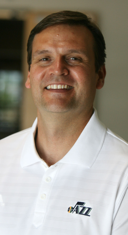Steve Griffin | The Salt Lake Tribune    New Utah Jazz general manager Dennis Lindsey in the team's practice facility in Salt Lake City, Utah Thursday August 16, 2012.