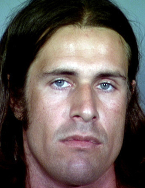 This image provided by the Clackamas Co. Sheriff's Office shows Erik John Meiser, a white supremacist sought in the stabbing death of a retiree in the Portland, Ore., suburb of Lake Oswego, who slashed a man's face at a Utah bus station nine days before the murder, police said Friday Sept. 21, 2012 as they stepped up their search.(AP Photo/Clackamas Co. Sheriff's Office)