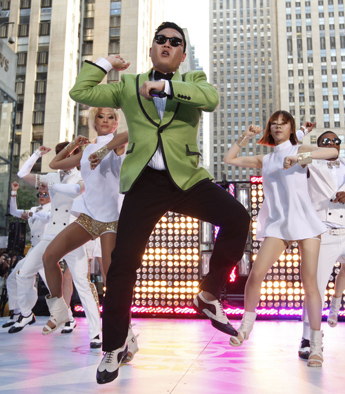 South Korean rapper Psy performs his massive K-pop hit