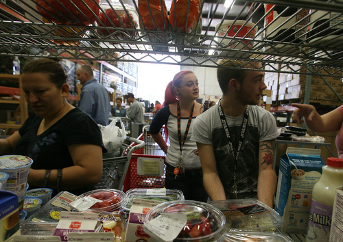 Leah Hogsten  |  The Salt Lake Tribune Full-time college students and part-time employees Megan Singleton and her boyfriend Chase Wilson pick out food items Wednesday, September 19, 2012 to make ends meet.  During the recession, the city of Ogden had the highest unemployment rate among cities in Utah with populations of more than 25,000. Between December 2008 and February 2011, the unemployment rate averaged above 11 percent; in July and August 2009, the rate peaked at 12.5 percent.