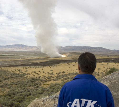 Al Hartmann  |  The Salt Lake Tribune Close to 50 percent of Weber County's workforce typically commutes to jobs in other counties. Aerospace giant Alliant Techsystems (ATK), for example, has laid off almost 4,800 Utahns, mostly in Box Elder County. But many ATK employees probably lived in Ogden.