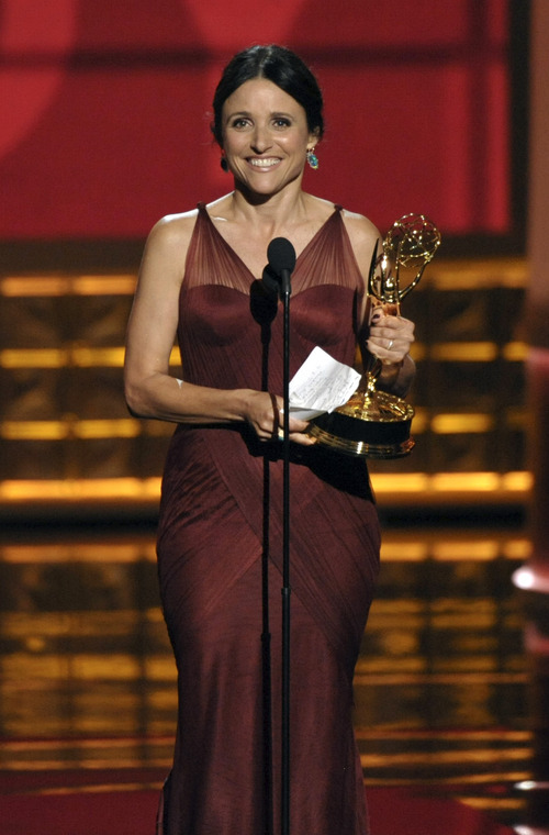 Julia Louis-Dreyfus accepts the award for Outstanding Lead Actress in a Comedy Series for