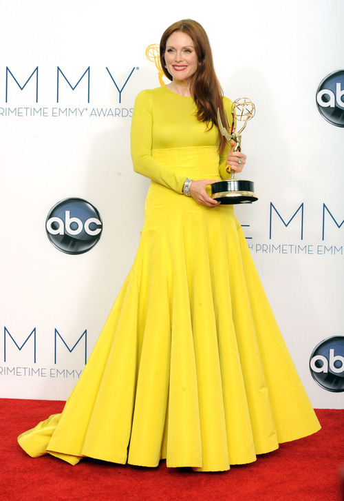 Actress Julianne Moore, winner  of the Outstanding Lead Actress In A Miniseries or Movie for