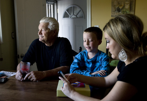 Kim Raff | The Salt Lake Tribune Lark Montague went missing five years ago on Sept 21. Her husband Dennis Montague and daughter Brittany Montague are still looking for answers.  Dennis Montague answers questions during an interview about Lark at Dennis' home in Magna on Sept. 19, 2012.