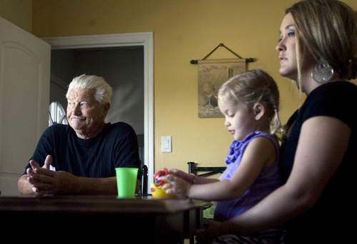 Kim Raff | The Salt Lake Tribune Lark Montague went missing five years ago on Sept 21. Her husband Dennis Montague and daughter Brittany Montague are still looking for answers.  They are interview about Lark at Dennis' home in Magna, Utah on September 19, 2012.