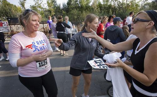 Scott Sommerdorf     The Salt Lake Tribune              Meri Brown, left, from the TV program