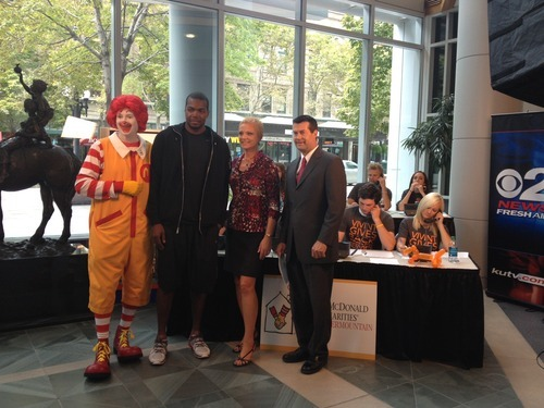 Paul Millsap was interviewed live on KUTV as part of a televised fundraiser for Ronald McDonald House Charities. Courtesy photo