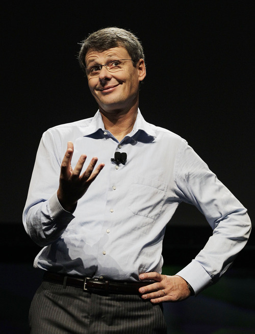 (AP Photo/Eric Risberg) Research In Motion CEO Thorsten Heins rallied support Tuesday for the upcoming release of BlackBerry 10, a new operating system that Research In Motion Ltd. is touting as its salvation after years of blundering.