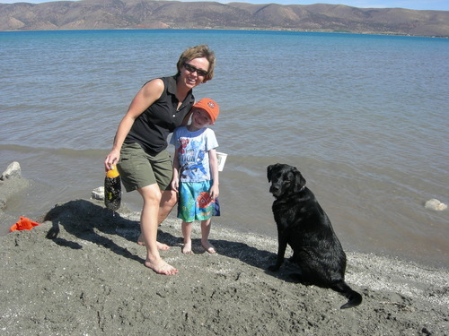 Utah 4 Kids author Samantha Simon enjoys a trip to Bear Lake. Courtesy image