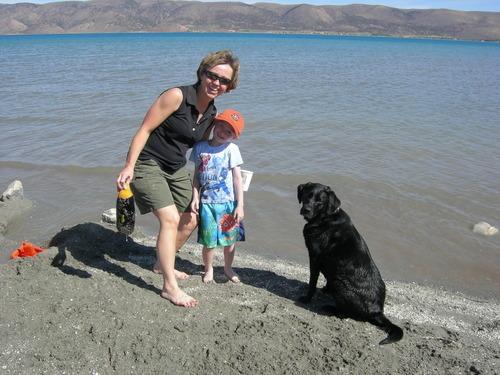 Utah 4 Kids author Samantha Simon enjoys a trip to Bear Lake. Courtesy image