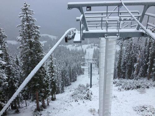 Utah's 14 resorts are blanketed in up to five inches of snow after the first snowfall of the 2012-13 season Sept. 25, 2012. Courtesy Ski Utah