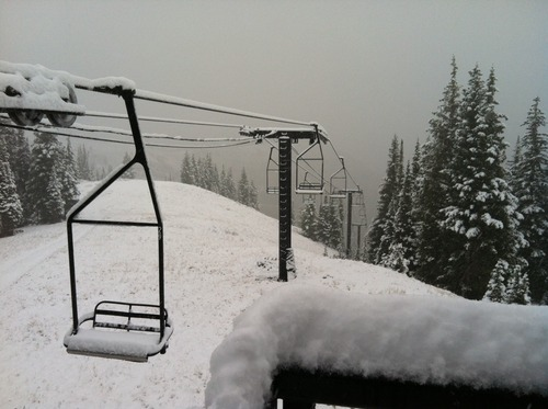 Courtesy of Ski Utah Utah's 14 resorts are blanketed in up to five inches of snow after the first snowfall of the 2012-13 season Sept. 25, 2012.