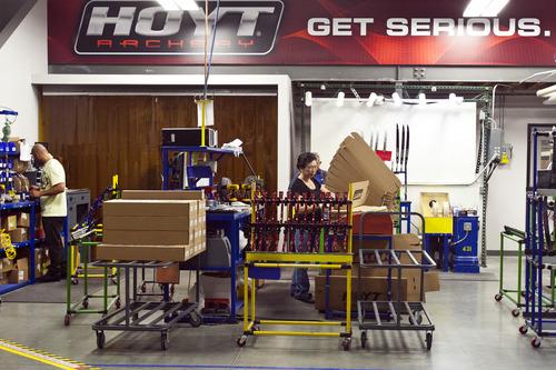 Chris Detrick  |  The Salt Lake Tribune Employees work at Hoyt Archery in Salt Lake City Wednesday September 12, 2012.
