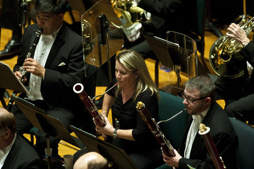 Photo by Chris Detrick | The Salt Lake Tribune  Members of the Utah Symphony perform Charles Ives'