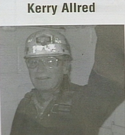 Miner Kerry Allred ---Courtesy of KUTV