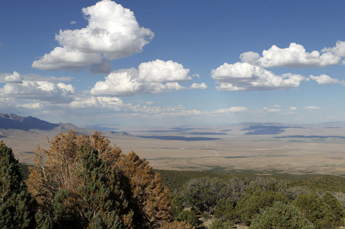 Al Hartmann     The Salt Lake Tribune The view looking west into western Utah from the foothills of the Snake Range just inside Nevada show the effects of the severest yearlong period of drought on record in the area.