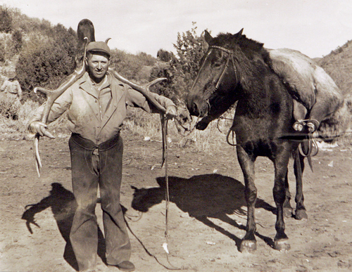 Elk hunter. Courtesy of Utah Historical Society