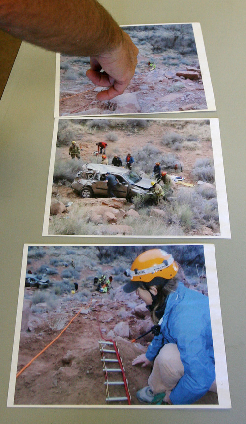 Steve Griffin   The Salt Lake Tribune   Photos from some of the rescue operations performed by Grand County Search and Rescue in Moab, Utah Thursday September 13, 2012. Grand and Wayne counties are charging people for search and rescues. One man received a $1,500 bill for being rescued after his raft overturned on the Colorado River. A North Carolina man received a $4,000 bill after he rescued from Bluejohn Canyon.